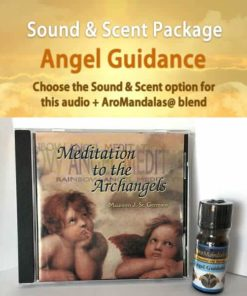 cd and essential oil bottle for angel guidance