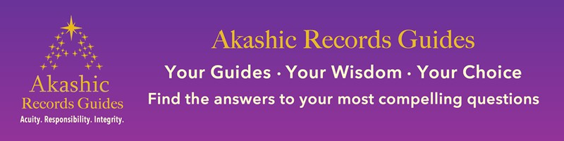 purple banner with Akashic Records Guides logo and text
