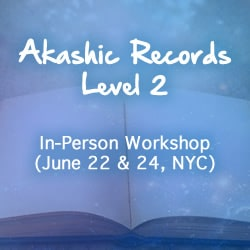Blue background with book and Akashic Records