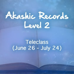 Blue background with Akashic Records book