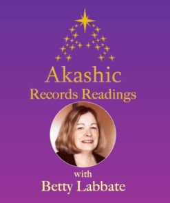 Akashic Guide Betty Labbate on purple background