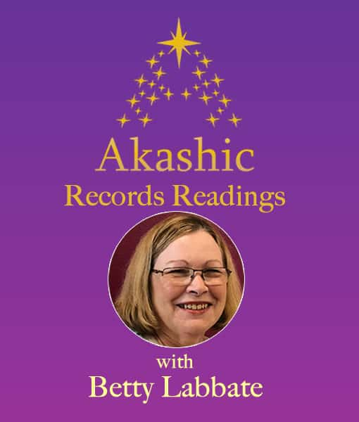 purple background with gold stars and image of Betty Labbate