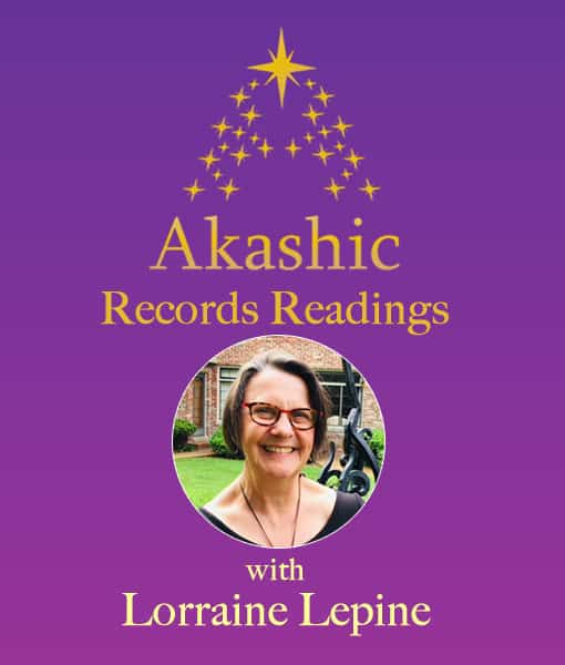 purple background with gold stars and round image of Lorraine Lepine