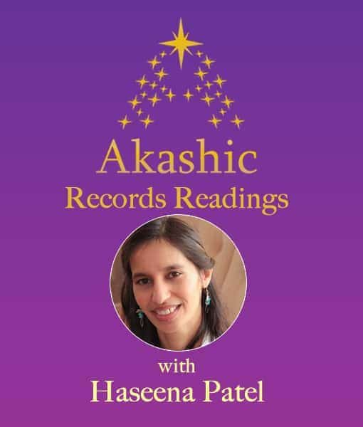 Haseena Patel on purple background with gold stars