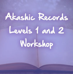 purple akashic records book white text