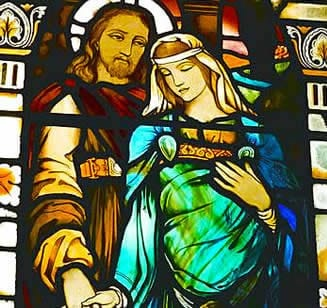 stained glass mary magdalene pregnant
