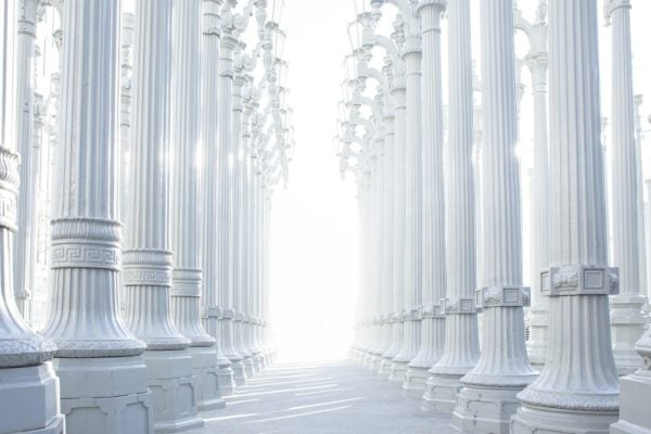 columns and light
