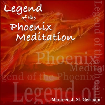 red phoenix image with white text