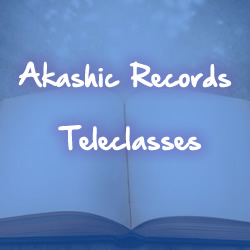 open book blue background white text akashic records